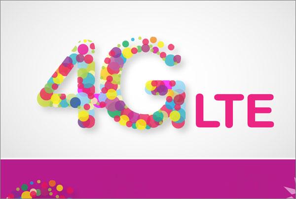 Zain 4G logo concept