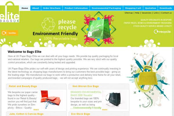 Elite Bags Website