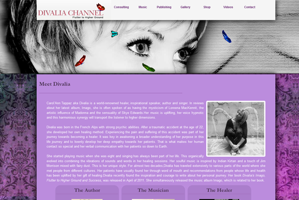 Divalia Channel website