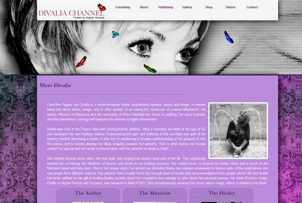 Divalia Channel website