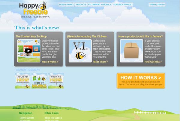 Happy Freebie website