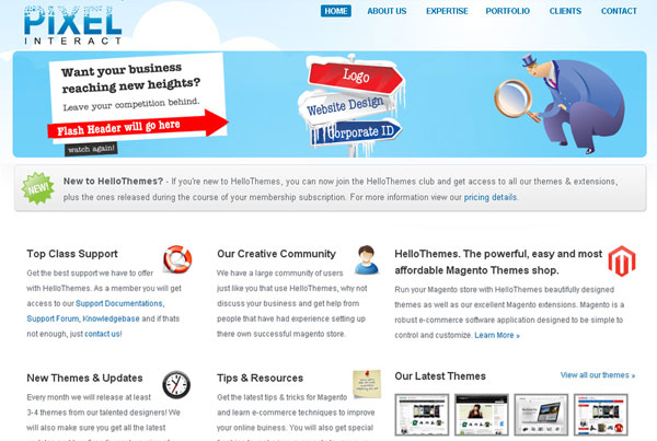 Pixel Interact website