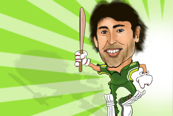 Cricketers illustration